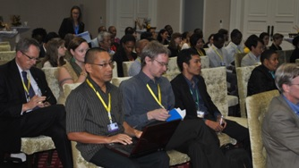Audience members from government delegations and World Heritage Advisory Bodies