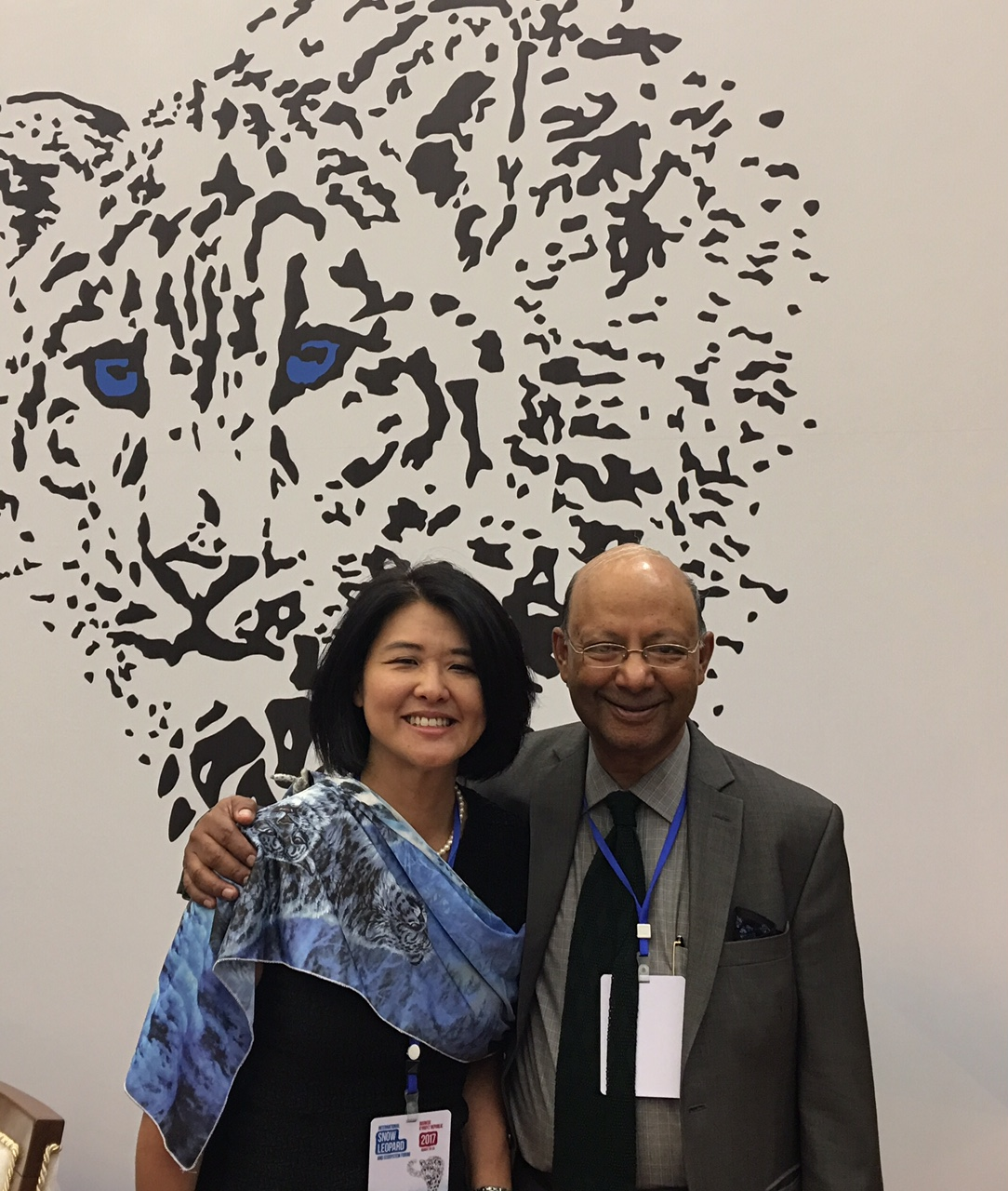 Keshav Varma CEO of Global Tiger and Snow Leopard Initiative with Yoko