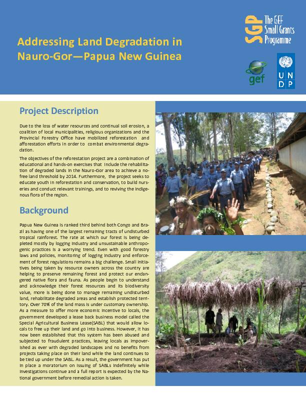 Addressing Land Degradation in Nauro-Gor