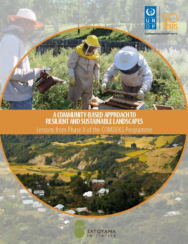 A community based approach to resilient and sustainable landscapes: lessons from Phase II of the COMDEKS programme