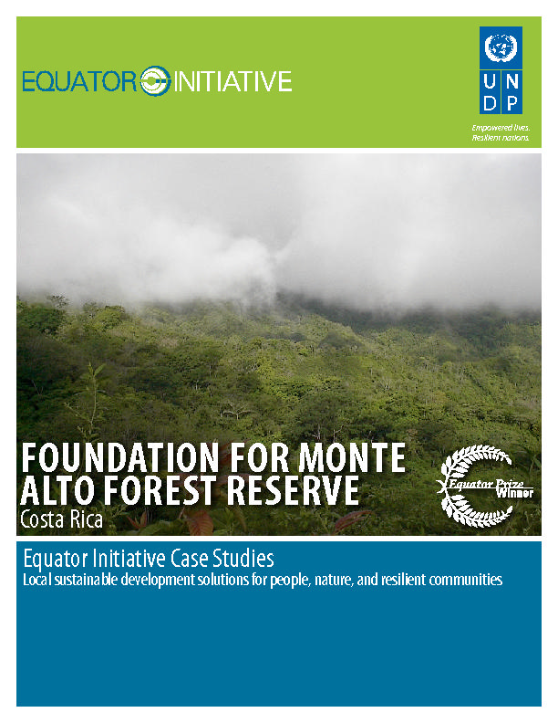 FOUNDATION FOR MONTE ALTO FOREST RESERVE