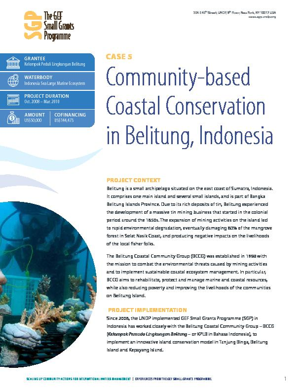 Community-based Coastal Conservation in Belitung, Indonesia