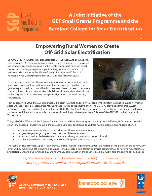 SGP Barefoot Women Solar Engineers