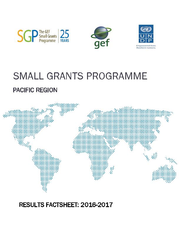 SGP the Pacific: Results fact sheet 2016 - 2017