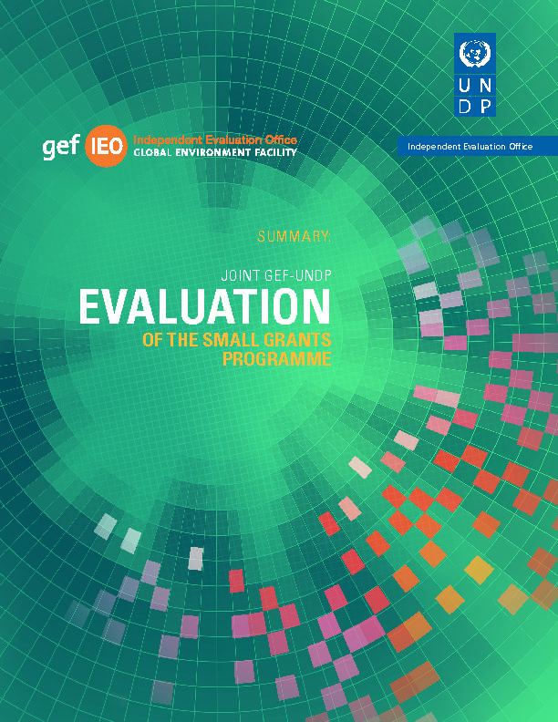 Fifth Joint Evaluation GEF-UNDP of the Small Grants Programme- Summary