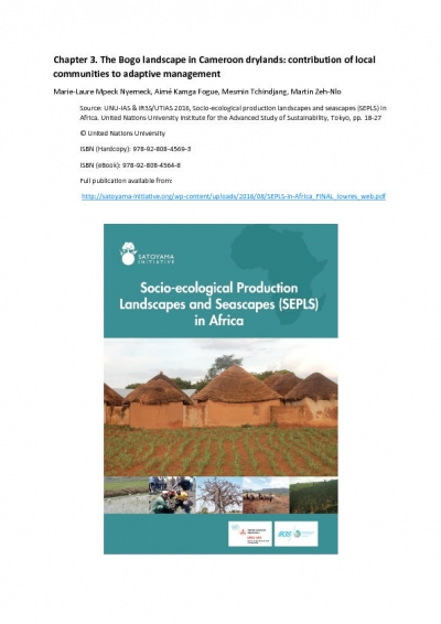 The Bogo landscape in Cameroon drylands: contribution of local communities to adaptive management