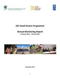 Small Grants Programme Annual Monitoring Report 2011 - 2012