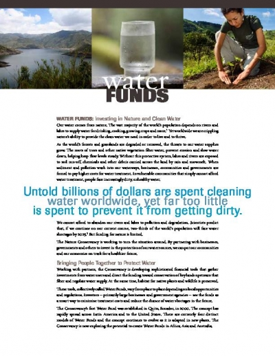 Water Funds: Investing in Nature and Clean Water