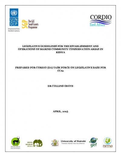 Kenya-  Marine community conservation areas in Kenya, legislative guidelines