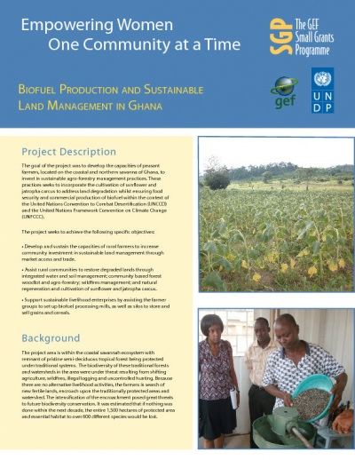 Biofuel Production and Sustainable Land Management in Ghana