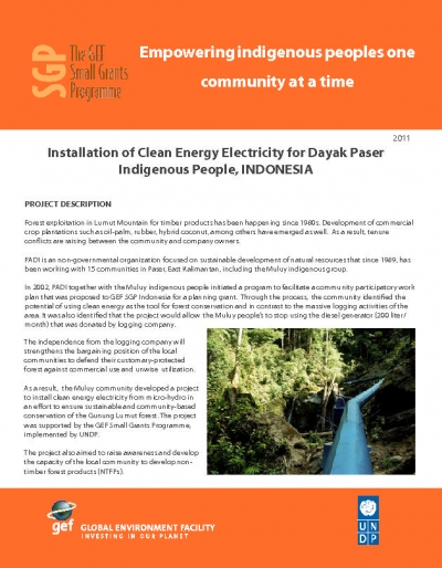 Clean Energy, Forests, and Indigenous People