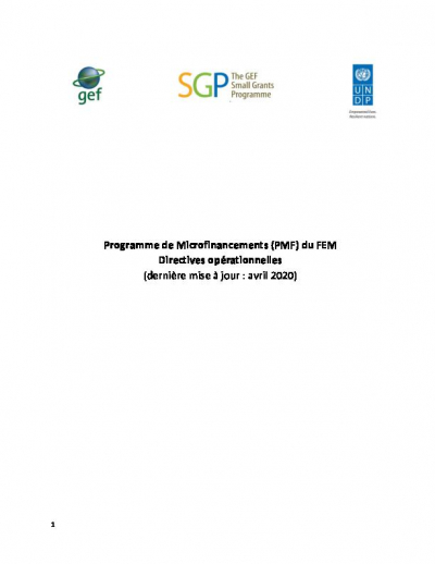 SGP Operational Guidelines- OP7- French