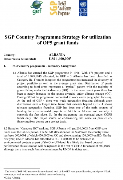 OP5 SGP Country Programme Strategy